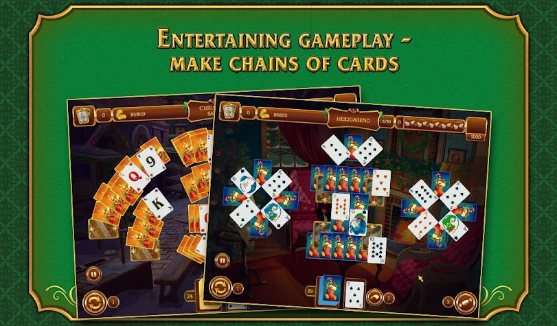 Solitaire Game. Christmas Screenshot