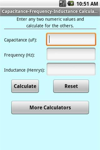 Electrician Calculators - screenshot