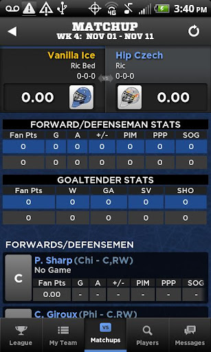 Description: Yahoo! NHL Fantasy App