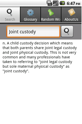 Law Dictionary - screenshot