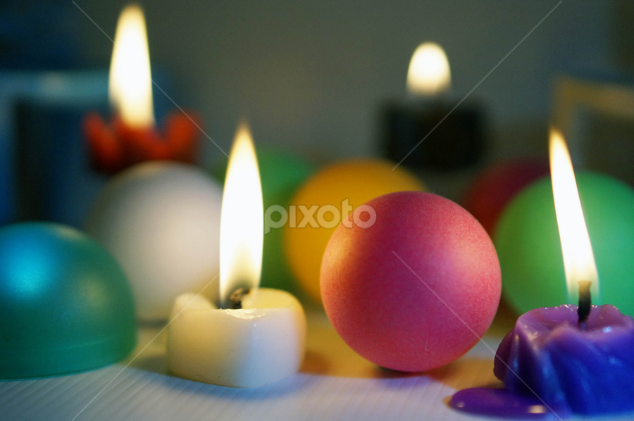 Closed up of lighted candles by Alice Chia - Artistic Objects Other Objects