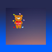CuteBear Clock Widget