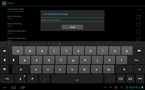 Thumb Keyboard Screenshot 12