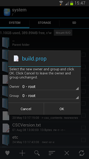 Root Explorer Screen shot 5