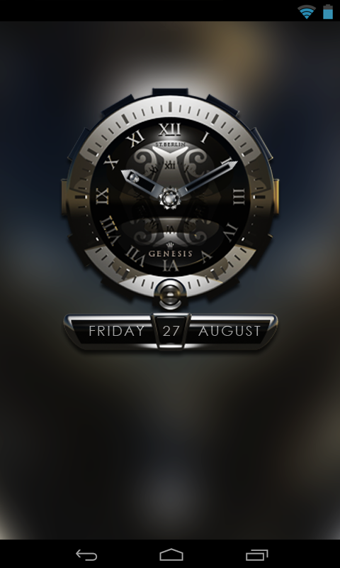 GENESIS designer clock widget - screenshot