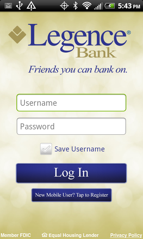 Legence Bank - screenshot