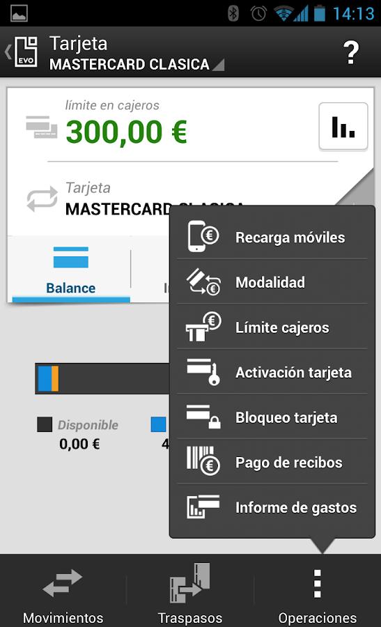 EVO Banco móvil - screenshot