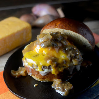 Mushroom Marsala Cheeseburgers