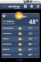 Screenshot of witiz weather premium