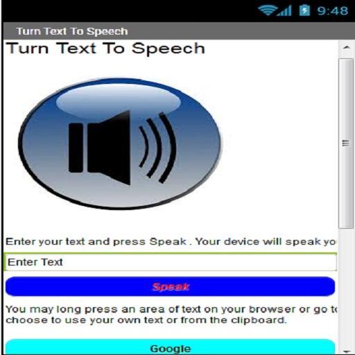 Turn Text To Speech