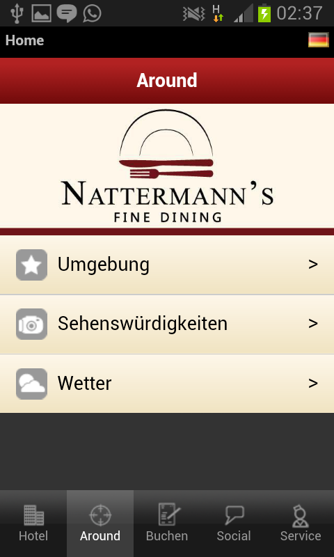 Nattermann's Fine Dining – Screenshot