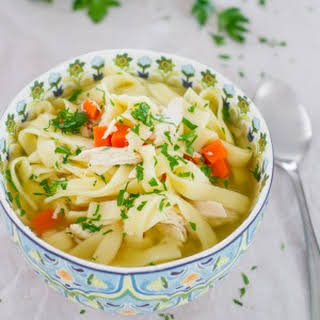 Crockpot Chicken Noodle Soup.