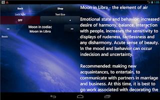 Screenshot of Lunar Calendar Health
