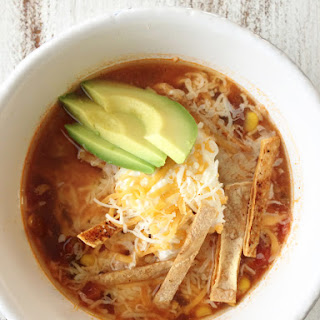 Healthified Crock Pot Chicken Tortilla Soup