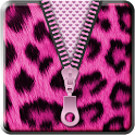 Pink Cheetah Zipper Lockscreen icon