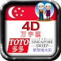 4D, TOTO, SG Sweep Large Fonts icon