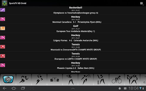 Sports TV HD for Tablets- screenshot thumbnail