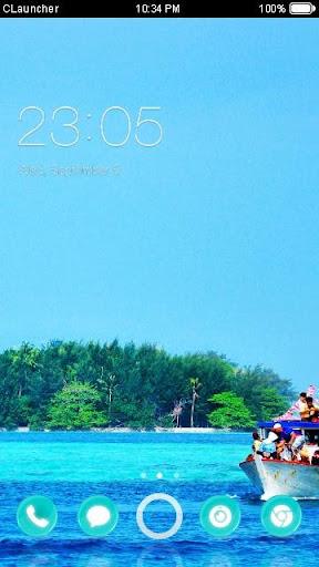'印尼海边'手机主题——畅游桌面