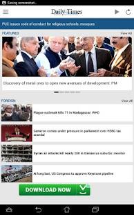 Daily Times Pakistan screenshot