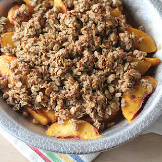 Fresh Peach Oatmeal Crisp