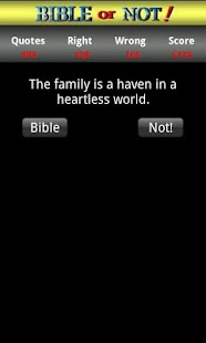 Bible or Not® Bible Quiz Game- screenshot thumbnail