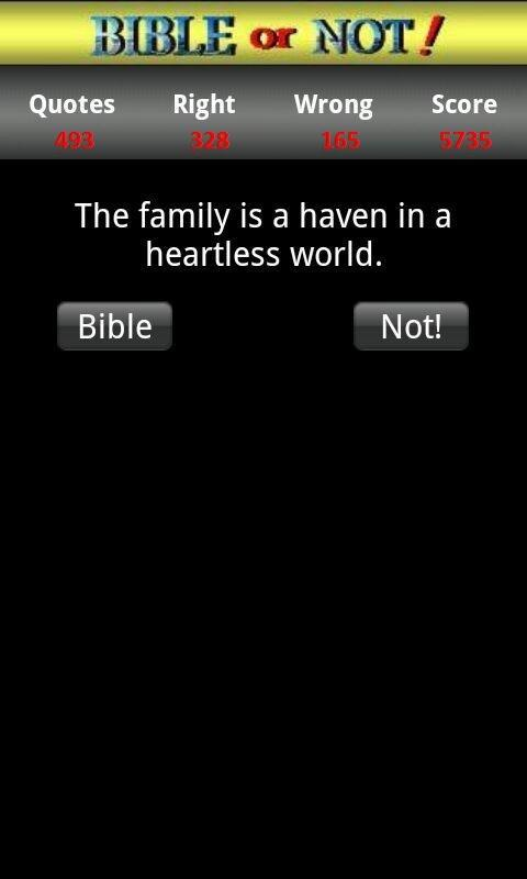Bible or Not® Bible Quiz Game - screenshot