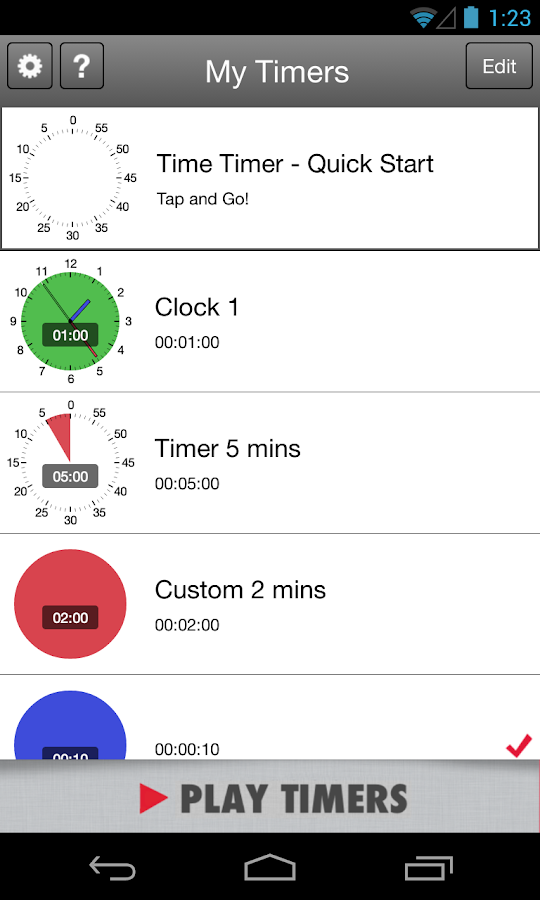 Time Timer for Android- screenshot