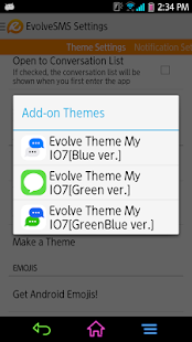 Evolve SMS - My I7[GreenBlue] - screenshot thumbnail