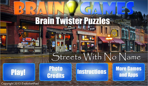 Streets With No Name: Puzzles