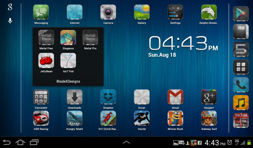 Metal FreeAPEX NOVA GO THEME Android Apps On Google Play