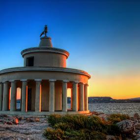 Lighthouse of Saint Theodore (Argostoli-Kefalonia) by Giannis Paraschou - Buildings & Architecture Other Exteriors ( lighthouse of saint theodore (argostoli-kefalonia), sunset greece, kefalonia sunset, lighthouse saint theodore, kefalonia greece, saint theodore,  )