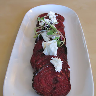 Lemon Marinated Beets with Goat Cheese