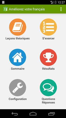 Améliorez votre français ! Android App Screenshot