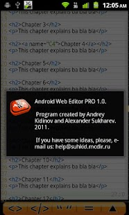 Android Web Editor Lite - screenshot thumbnail