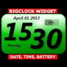 BIG Clock Date Battery Widget icon