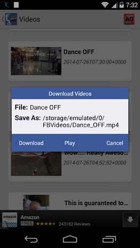 【免費媒體與影片App】VideoDownloader for Facebook-APP點子