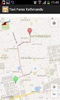 Screenshot of Taxi Fares Nepal