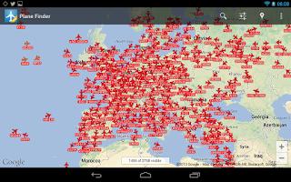 Screenshot of Plane Finder Free