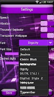 Screenshot of SCalc theme Jelly Purple