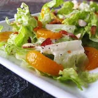 Romaine and Mandarin Orange Salad with Poppy Seed Dressing.