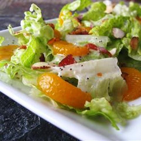Spinach Salad with Mandarin Poppy Seed Dressing Rezept | Yummly