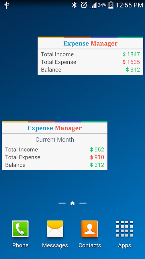 Expense Manager - My Budget - screenshot