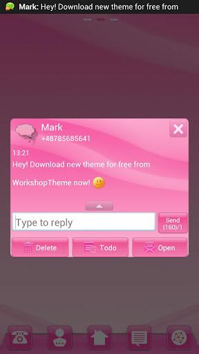 玩個人化App|GO短信粉色風格免費|APP試玩