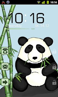 Bamboo Panda Theme GO Locker - screenshot thumbnail