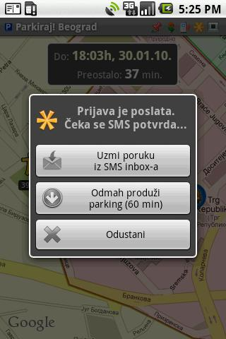 Parkiraj Beograd- screenshot