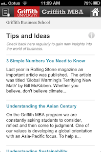 Griffith MBA- screenshot thumbnail