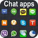 Whatsapp v Viber Facebook Skyp mobile app icon