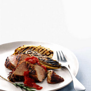 Grilled Pork Tenderloin and Belgian Endive and Tomato Chile Jam