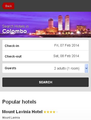 Colombo Hotel booking