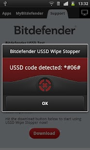 Bitdefender USSD Wipe Stopper - screenshot thumbnail
